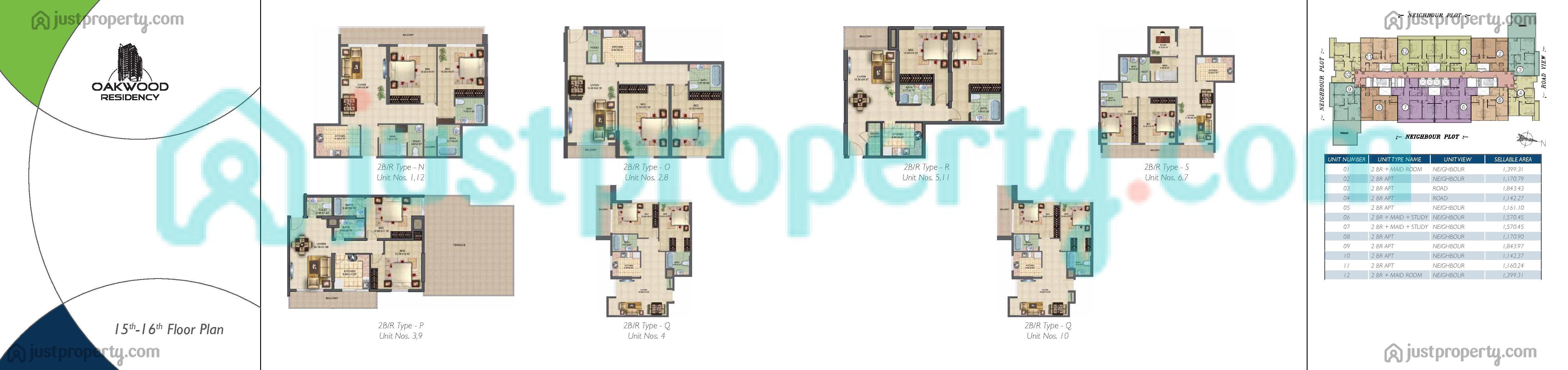 Oakwood Residency Floor Plans