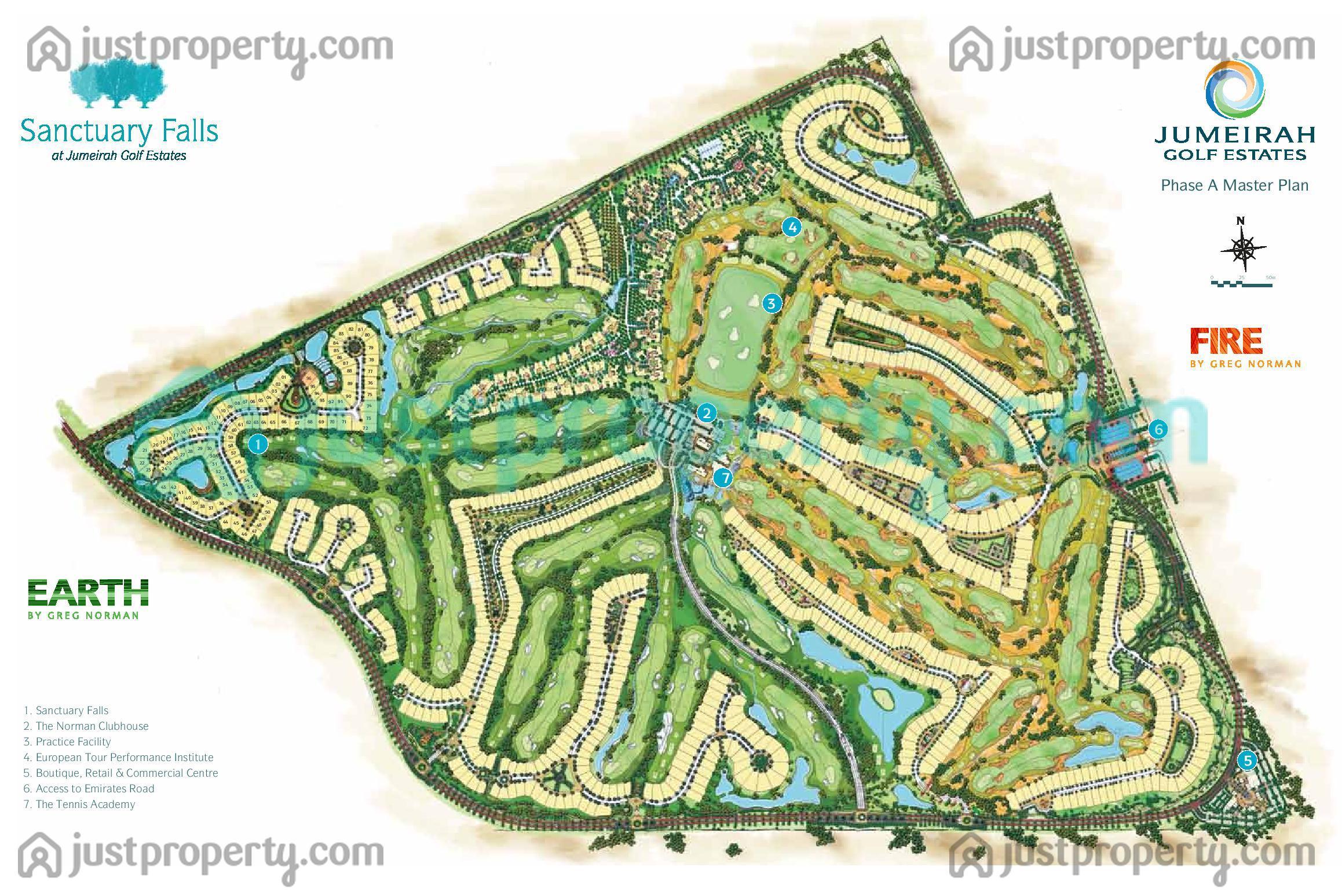 Sanctuary falls floor plans for Floor plans jumeirah golf estates