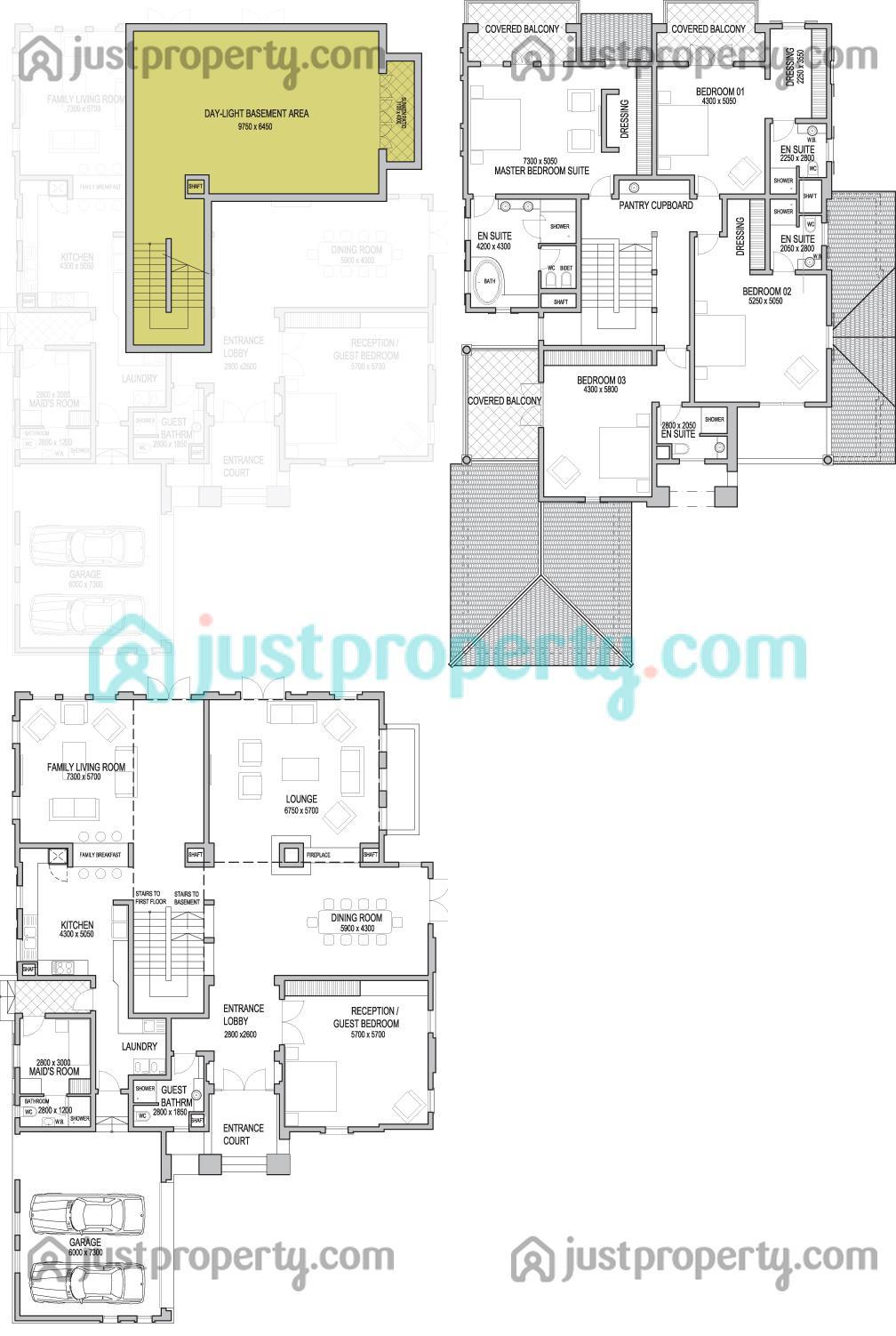 The sundials floor plans for Floor plans jumeirah golf estates