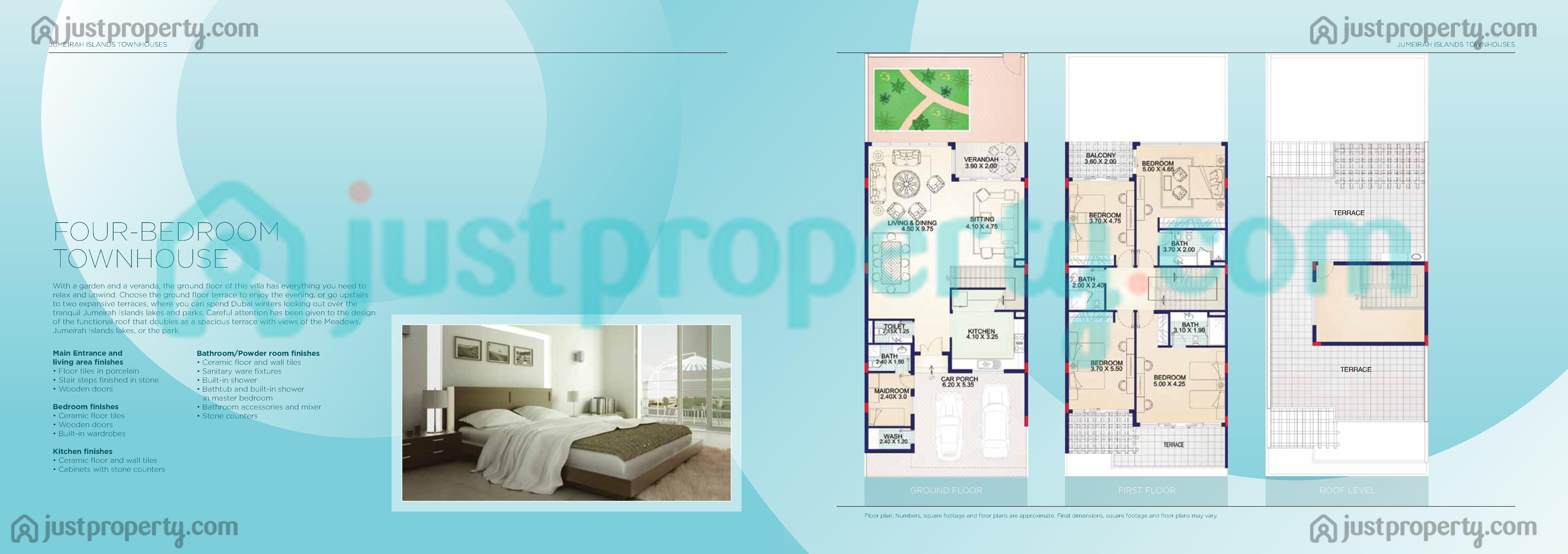 Jumeirah islands townhouses floor plans for Floor plans jumeirah islands