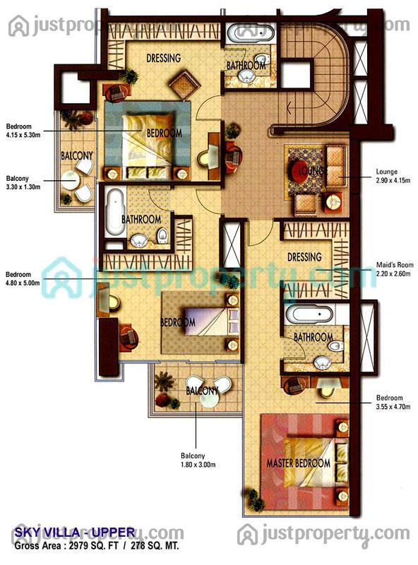Floor Plans For Goldcrest Views 2
