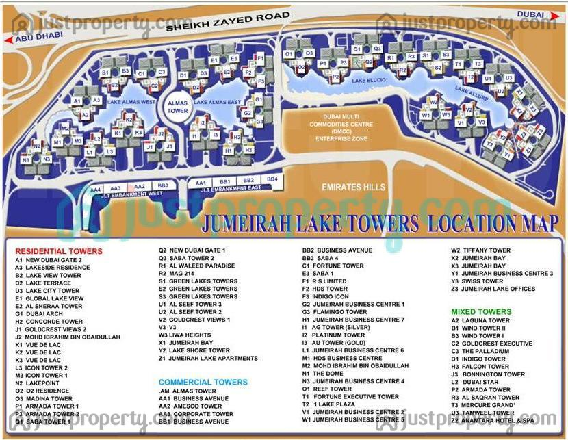 Floor Plans for Jumeirah Lakes Towers (JLT)