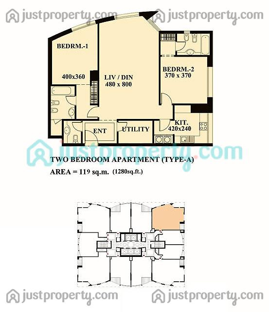 Lake shore tower floor plans for Floor plans zulal lakes dubai
