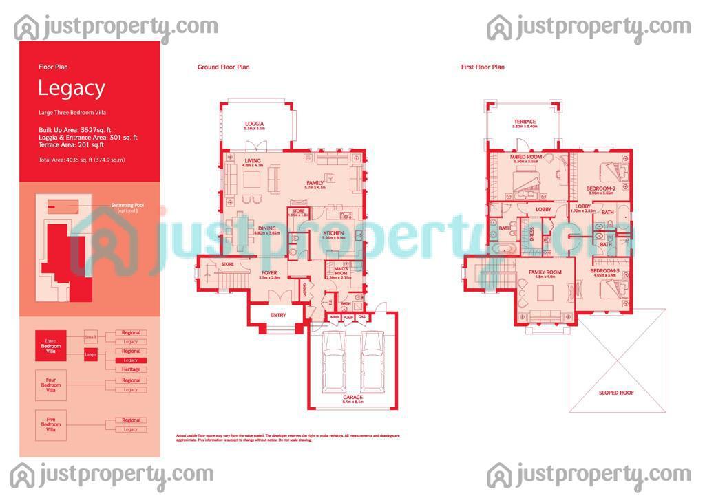 Jumeirah Park Version 1 Floor Plans
