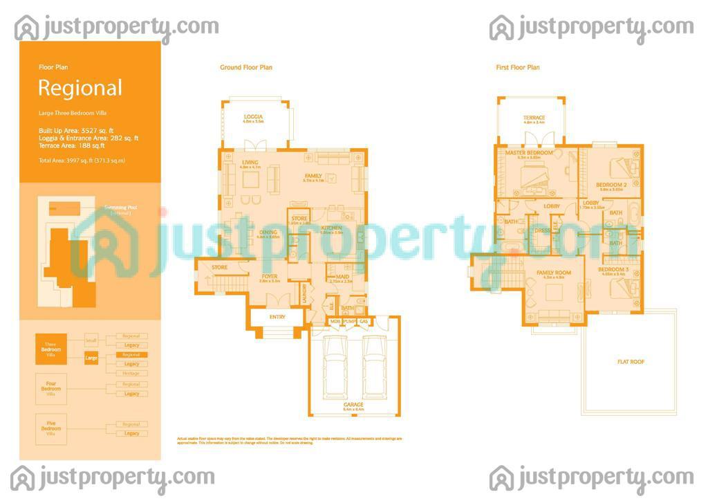 Jumeirah park version 1 floor plans for Floor plans jumeirah park