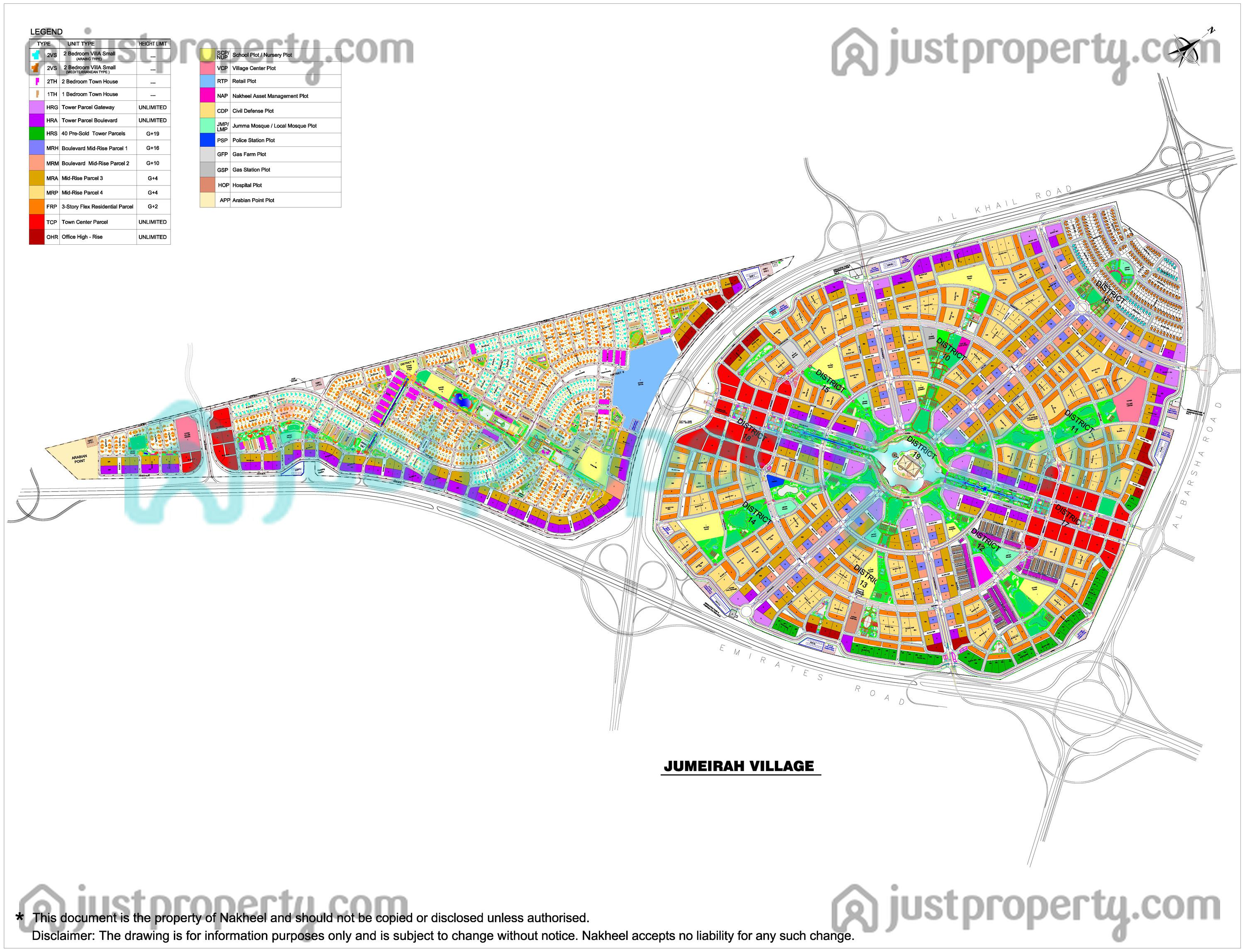 Floor Plans for Jumeirah Village Circle (JVC)