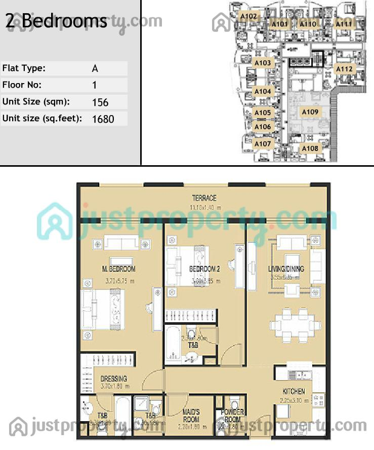 Plaza residences floor plans for Floor plans jumeirah heights