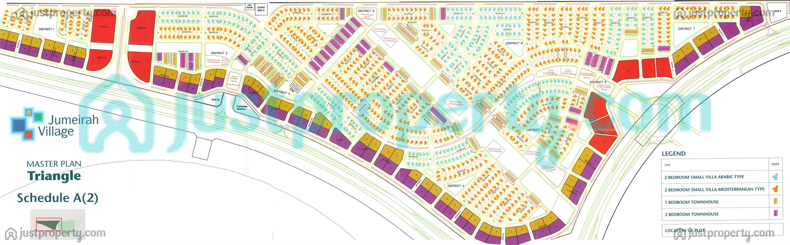 Floor Plans for Jumeirah Village Triangle (JVT)