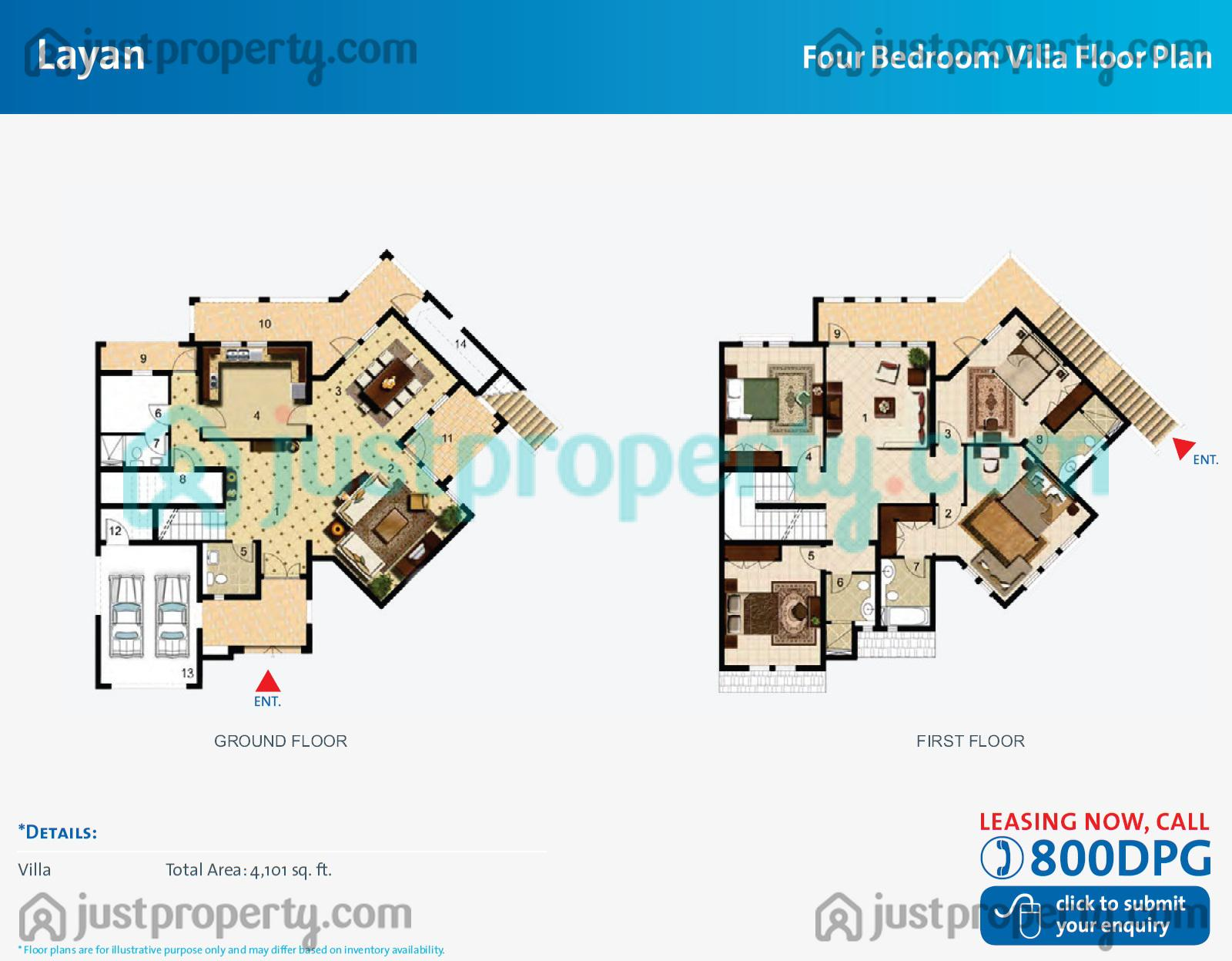 Layan Villas Floor Plans