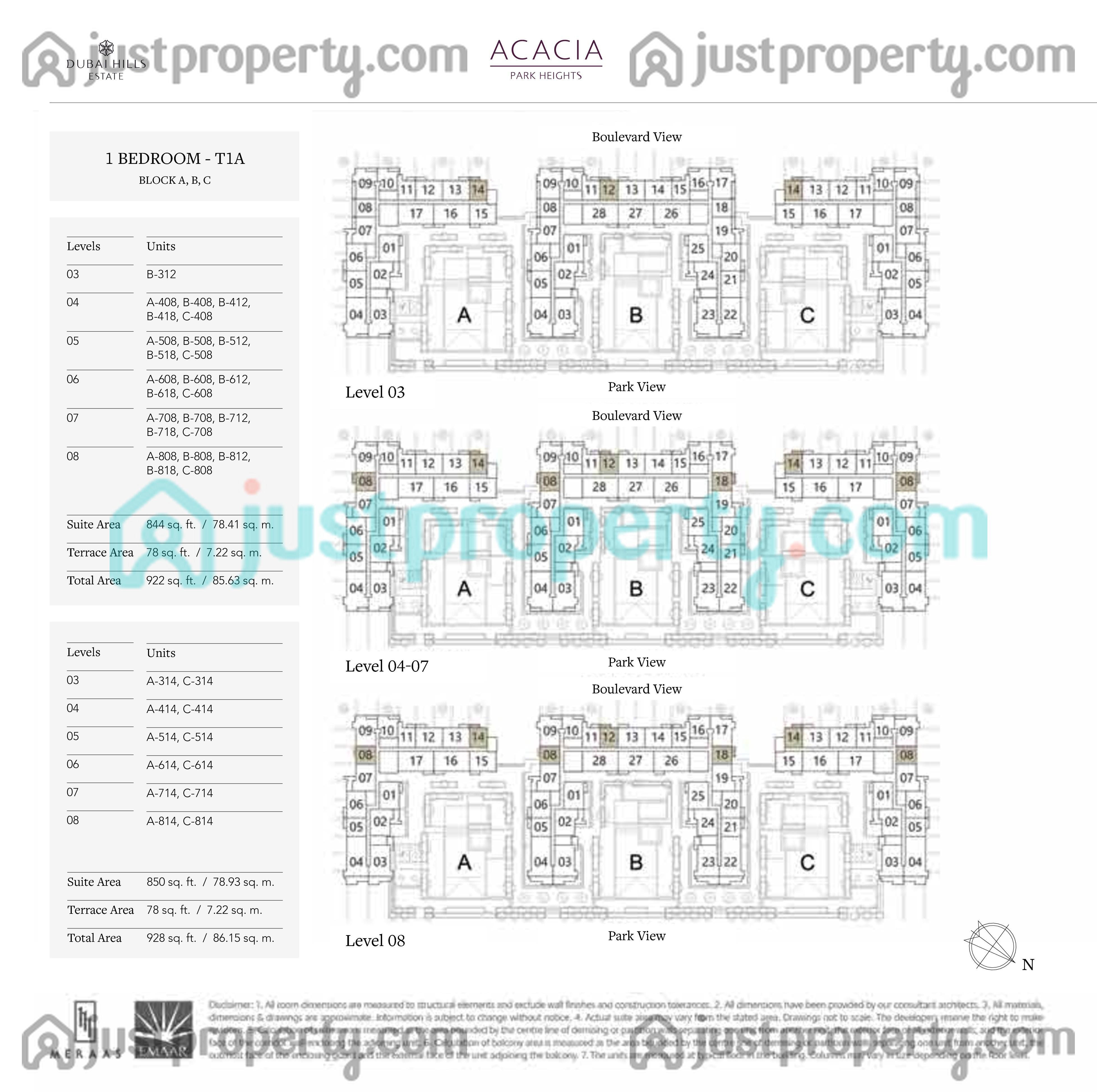 Acacia Park Heights Floor Plans