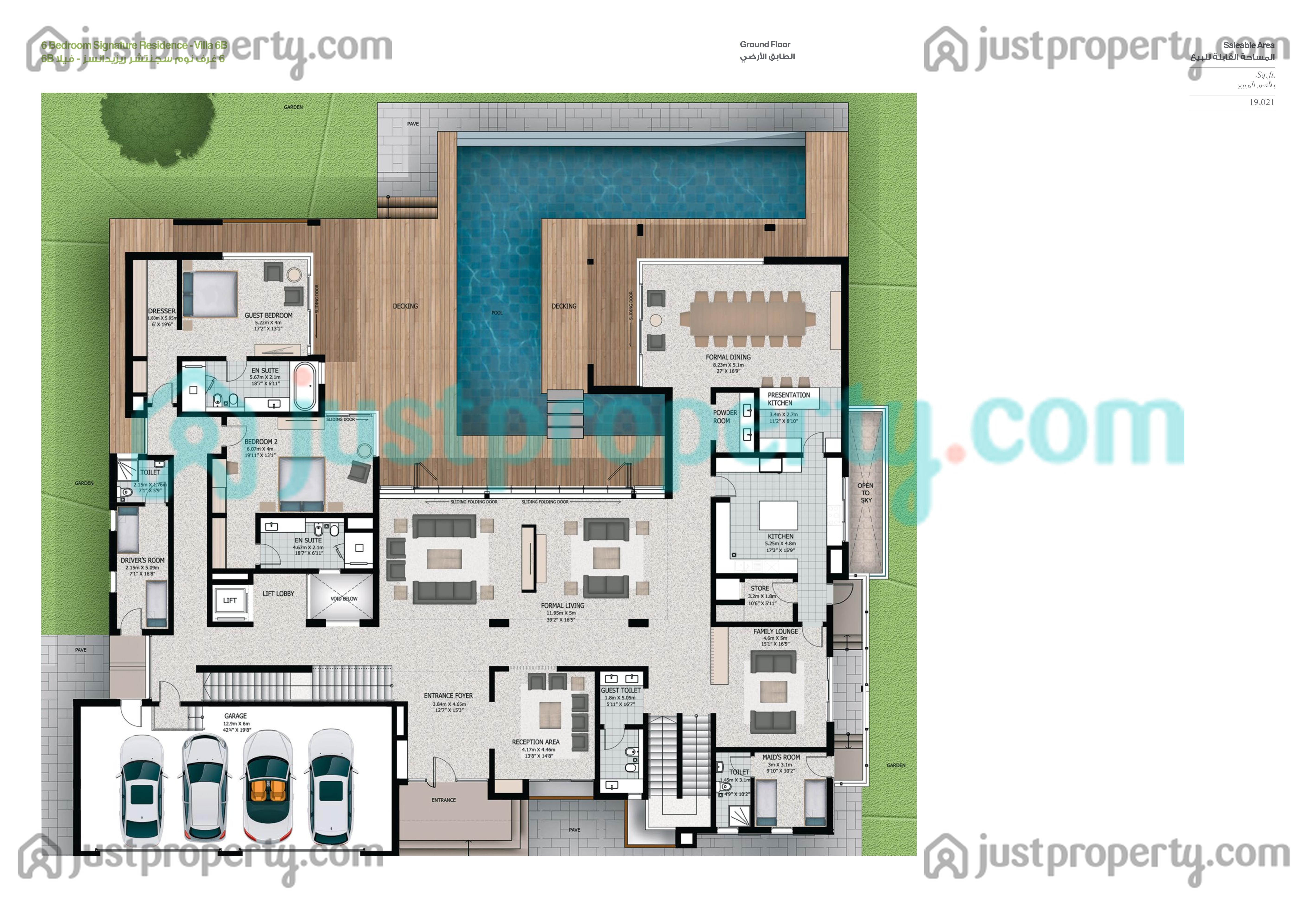 Floor Plans for 6BR