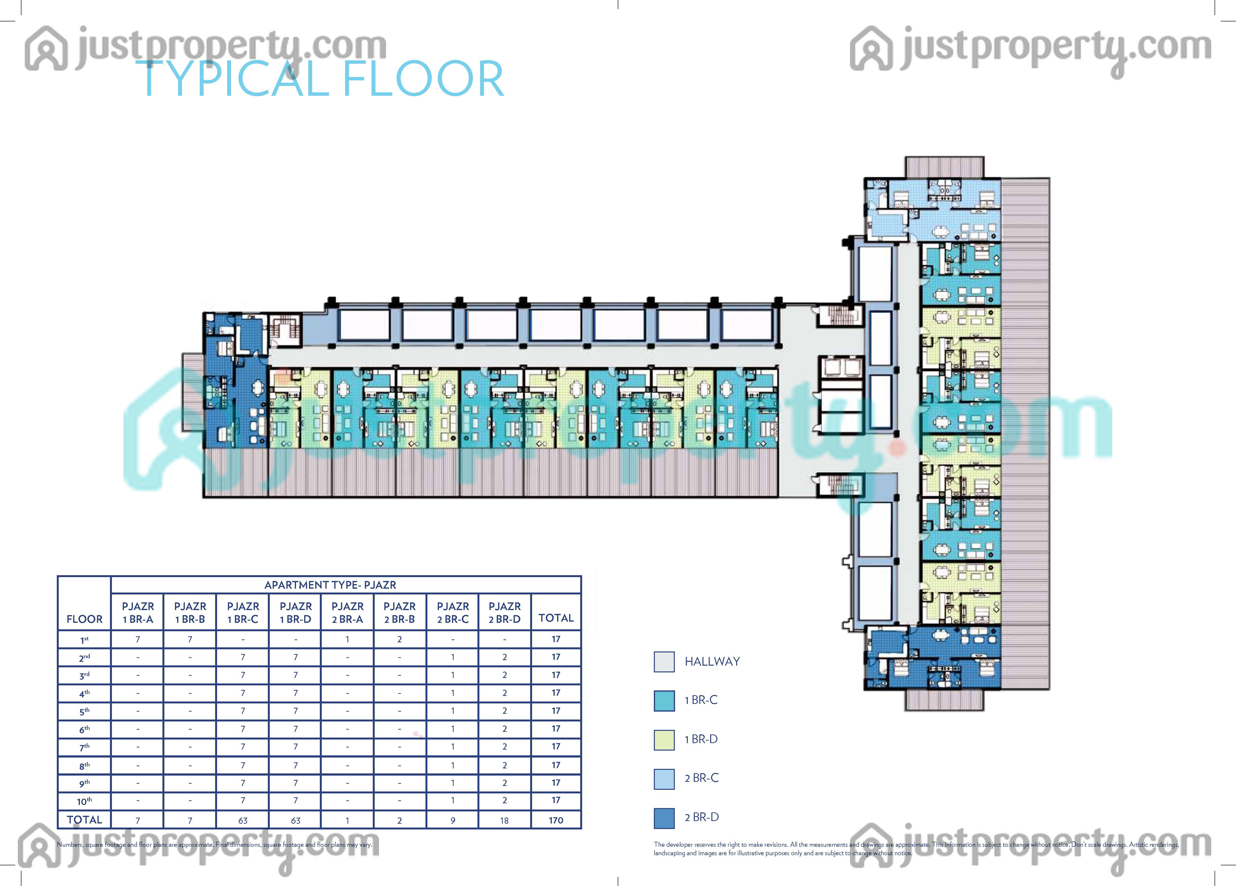 Azure residence version 1 floor plans for Floor plans jumeirah islands