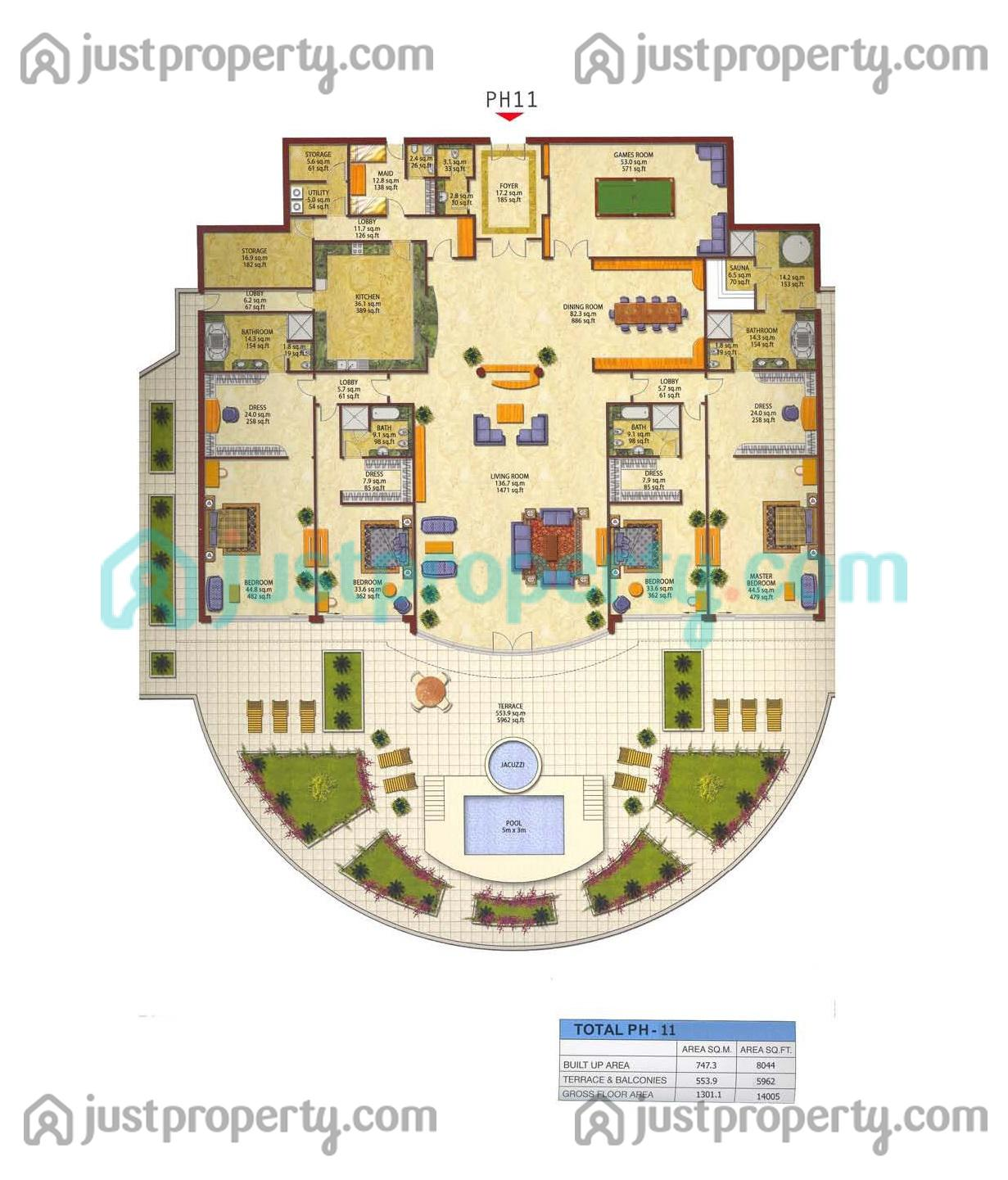 Penthouses Floor Plans