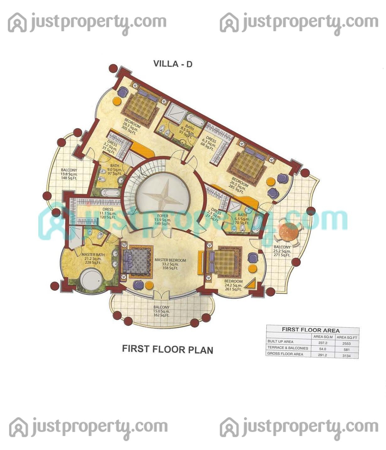 Palm Jumeirah Floor Plans Villas Floor Plans Justproperty Com