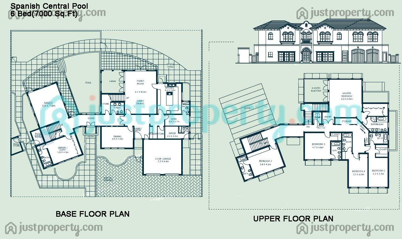 Version 1 floor plans for Spanish floor plans