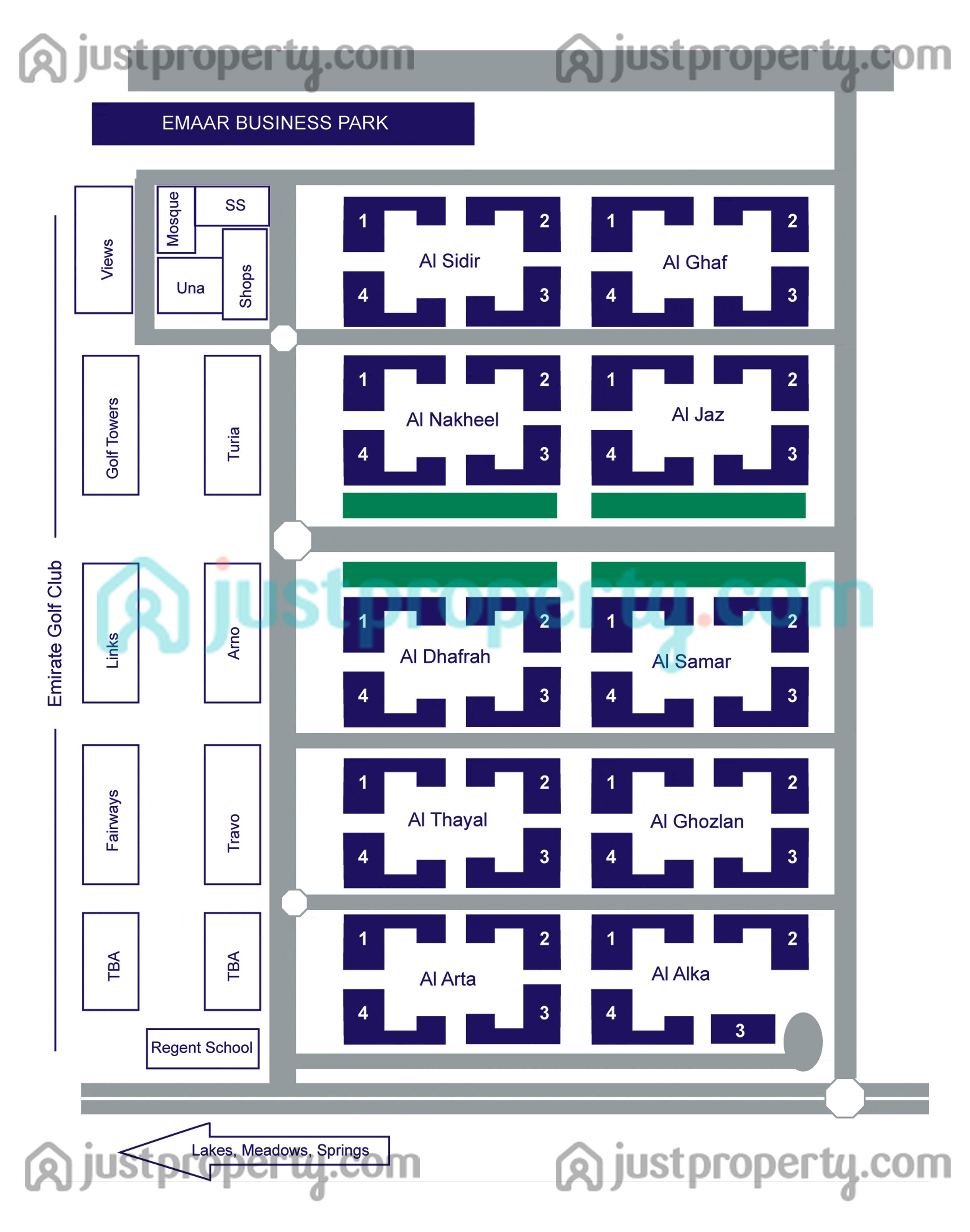 Floor Plans for The Greens