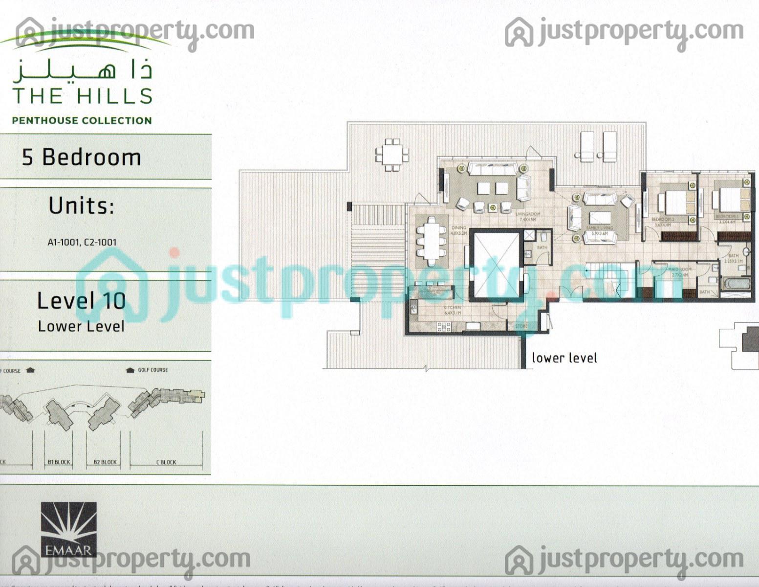 The Hills Penthouse Collection Floor Plans | JustProperty.com