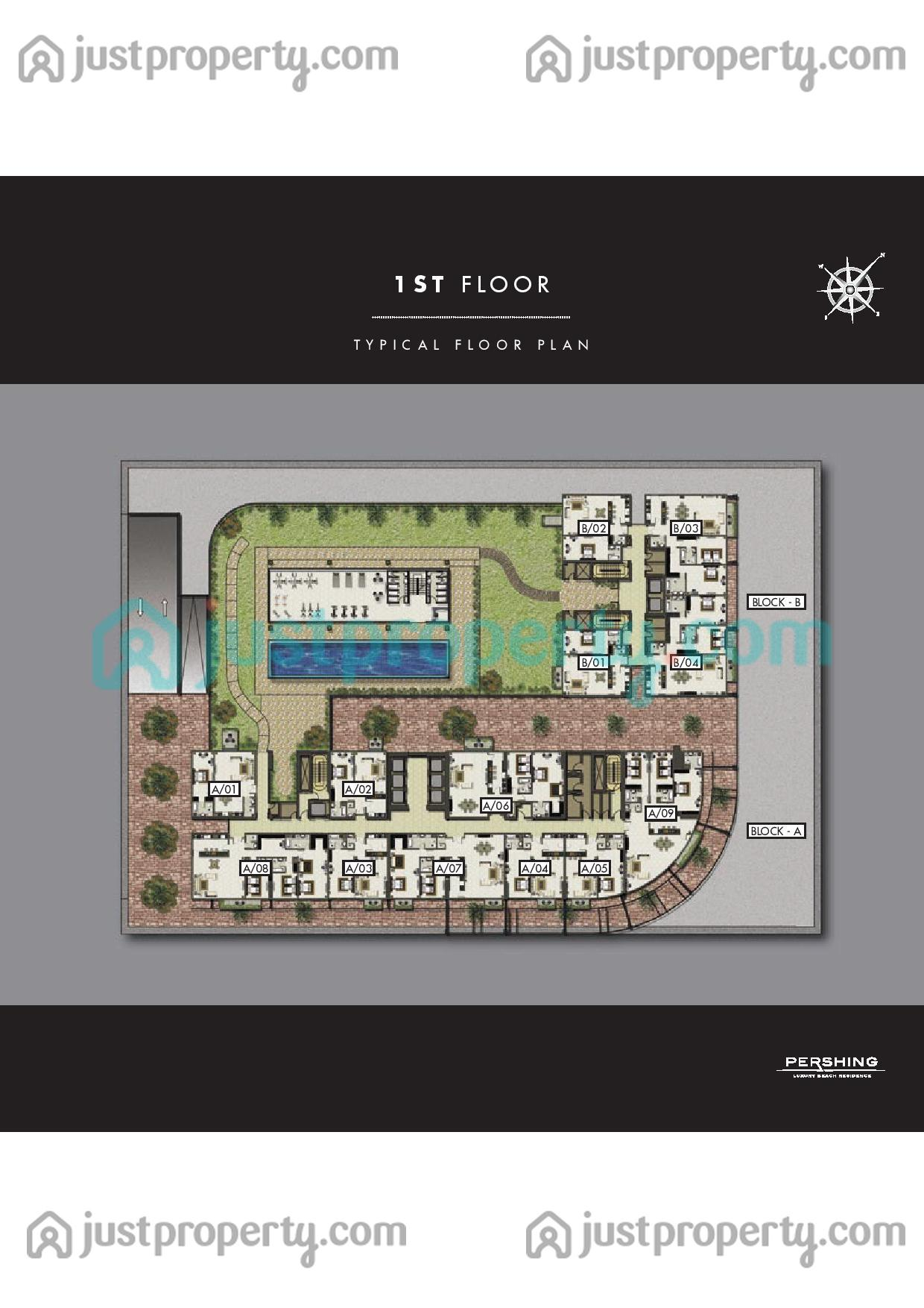 Floor Plans for Pershing Luxury Residences Pershing