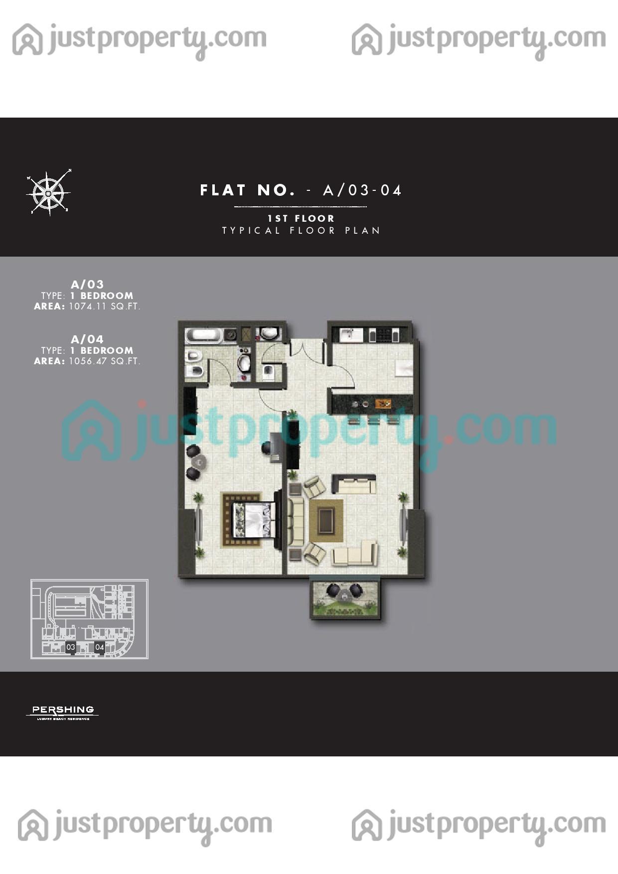 Floor Plans for Pershing Luxury Residences Pershing