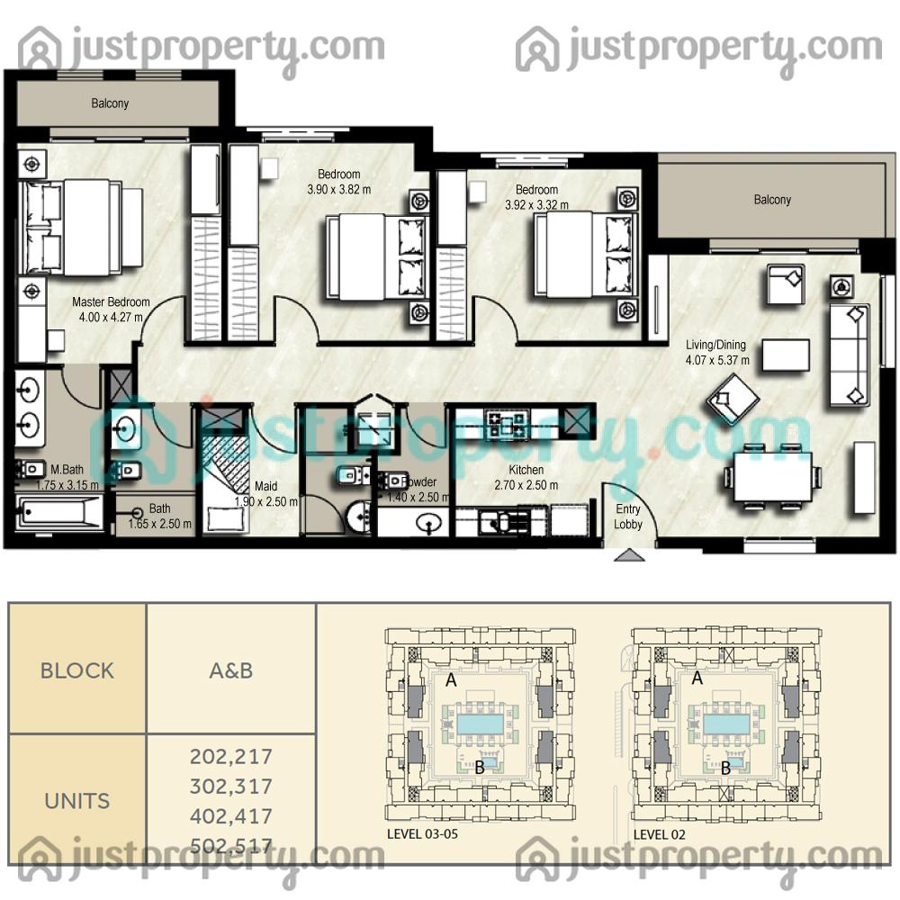 Floor Plans For Zahra Apartments