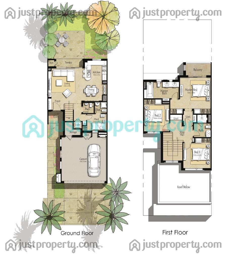 Zahra Townhouses Floor Plans