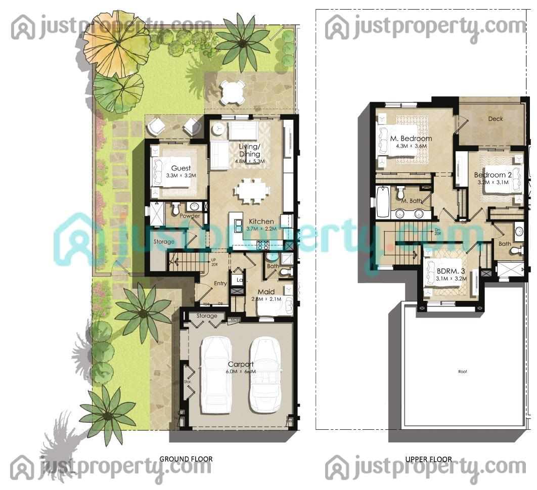 Zahra Townhouses Floor Plans Justproperty Com